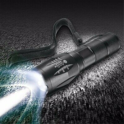 Tactical 90000LM T6 LED Lampe de poche Zoomable 5 Modes 18650 Focus Torch-AAA Ho