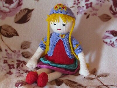 Sandy - Hand Knitted Artisan Doll By Ophelia's Dolls & Bears.
