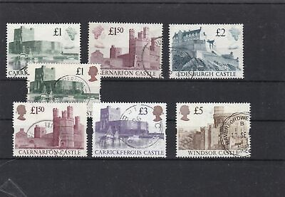 great britain castles to 5 pounds used  stamps ref 13309