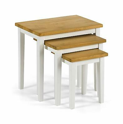 Julian Bowen CLEO NEST OF TABLES - WHITE / NATURAL OAK table coffee