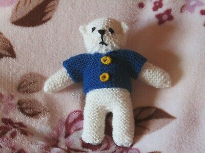 Roy - Hand Knitted Artasan Bear By Ophelia's Bears & Dolls.
