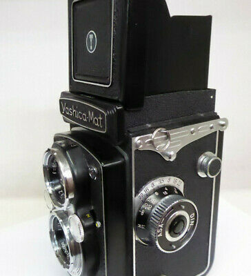 Yashica Mat + Case + Original Box + Instructions + Hood - Great Condition