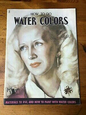 VTG Walter Foster 5 How to Do Water Colors Portrait Still Life Painting Art Book