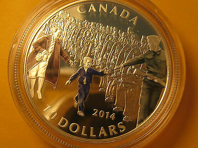 2014 Canada $10 Coin WWII Commemorative Wait For Me, Daddy Coin.