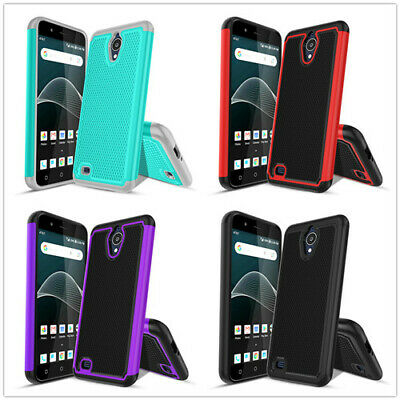 For ATT AXIA Case/Cricket Vision Case Hybrid Dual Layer Anti-Scratch Cover