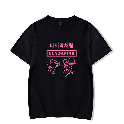 KPOP BLACKPINK T-Shirt Jennie Jisoo Lisa Rose Women Girls Unisex Adults Tee Tops