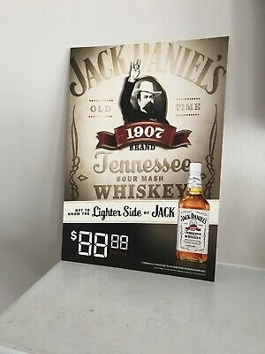 Jack Daniels White Label 1907 Store Advertising Lot