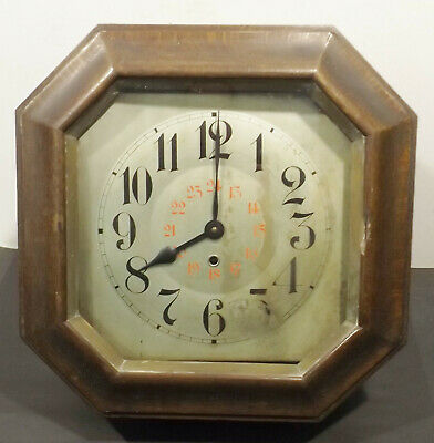 Old Octagonal Junghans Wall Clock Mot Pendulum in the Wooden Housing -