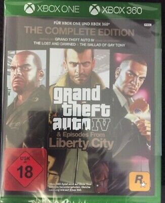 Xbox One & Xbox 360 Game Grand Theft Auto IV Gta 4 Complete Edition New