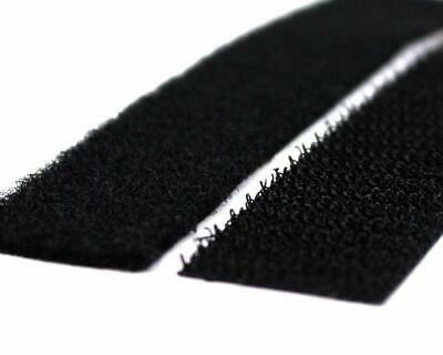 "Strenco 1"" Self Adhesive Black Hook and Loop 5 yards Sticky Back Tape Fastene..."