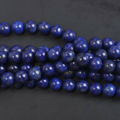 10MM Wholesale Natural Gemstone Lapis Lazuli Round Charm Loose Smooth Beads DIY