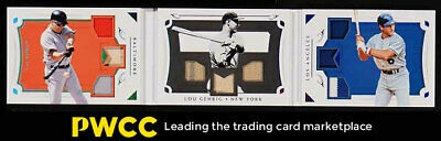 2018 National Treasures Triple-Legend Lou Gehrig Ripken Garvey PATCH /25 (PWCC)