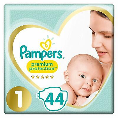 Pampers Premium Protection Couches New Baby Taille 1 (2-5 kg), Lot de 2 (2 x 44