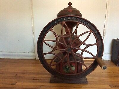Antique Coffee Grinder SWIFT MILL #140 Cast Iron Lane Brothers Poughkeepsie NY