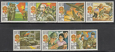 N.Vietnam MNH Sc # 1494-00 Mi 1521-27 Value $ 5.50 US $ People's army