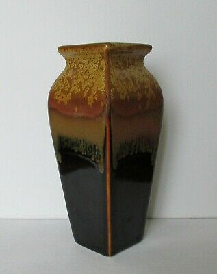 Fine Vintage Canadian Pottery Is This Vase In Browns, Beiges And 7 Inches High