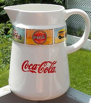 Coca-Cola® Brand Dinnerware Pitcher Marketed By Gibson®  ©The Coca-Cola Company