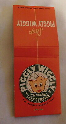 vintage Matchbook Cover Matches Piggly Wiggly The original Self Service