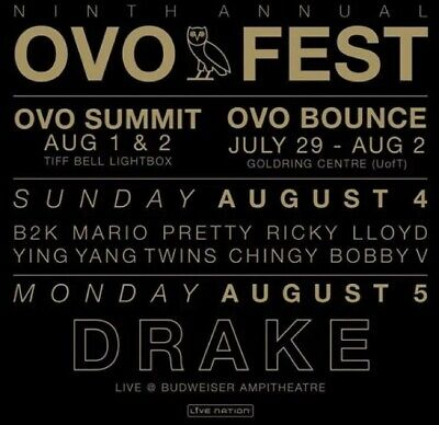 OVO Fest Ticket - Day 2 August 5th LAWN Seat
