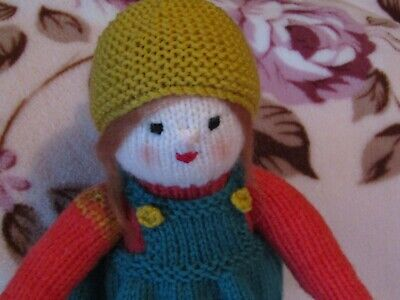 Emma - Hand Knitted Artisan Doll By Ophelia's Dolls & Bears.