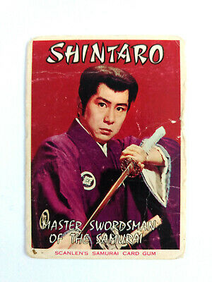 1964 Scanlens Samurai Card Gum THE SAMURAI HEADER CARD Shintaro Scanlen's
