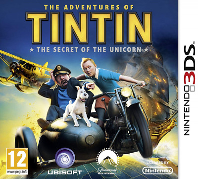 The Adventures Of Tintin: Secret Of Unicorn Game(Nintendo 3DS) Good Condition