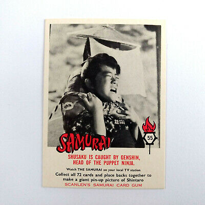 1964 Scanlens Samurai Card Gum THE SAMURAI CARD #55 Shintaro Scanlen's