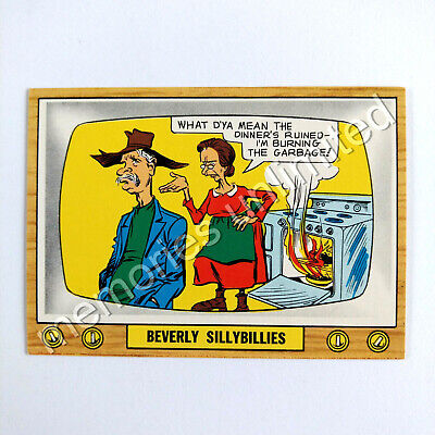 "1975 Scanlens TV PARODIES (CRAZY TV) ""BEVERLEY SILLYBILLIES"" Scanlen's Topps"