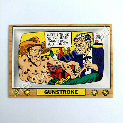 "1975 Scanlens TV PARODIES (CRAZY TV) ""GUNSTROKE"" Scanlen's Topps"