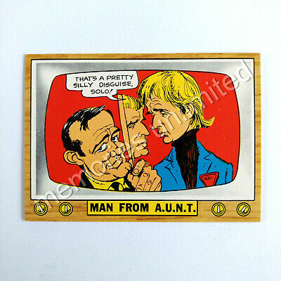 "1975 Scanlens TV PARODIES (CRAZY TV) ""MAN FROM A.U.N.T."" Scanlen's Topps"