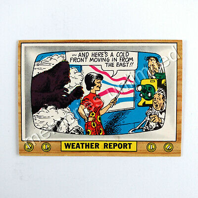 "1975 Scanlens TV PARODIES (CRAZY TV) ""WEATHER REPORT"" Scanlen's Topps"