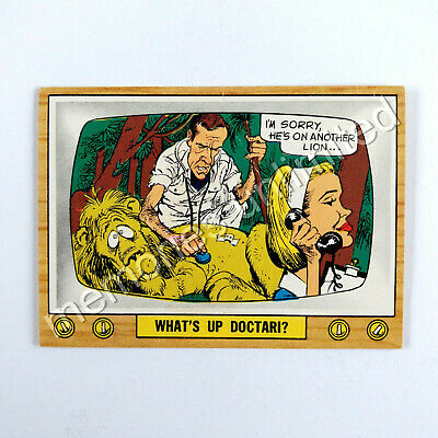 "1975 Scanlens TV PARODIES (CRAZY TV) ""WHAT'S UP DOCTARI?"" Scanlen's Topps"
