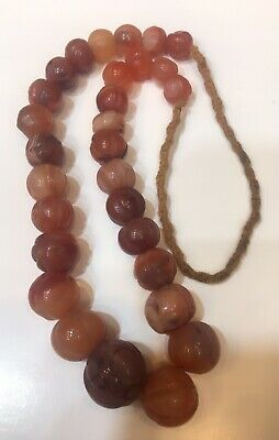 Afghanistan old agate stone necklace original agate handmade very nice