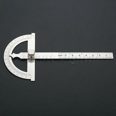 Stainless Steel Protractor Ruler 180 Degrees Angle Finder Measure Tool 80 *120mm