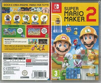 Super Mario Maker 2 Nintendo Switch Italiano Nuovo Sigill. Fisico Super Offerta