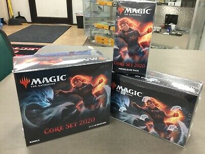 1x MTG Core Set 2020 prerelease pack, 1 Bundle Box,1 Factory sealed booster box