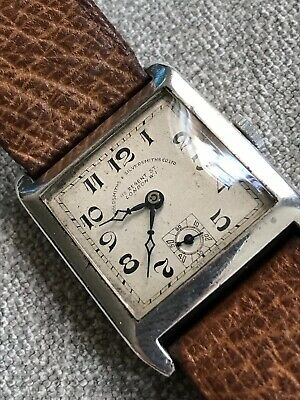 Vintage Solid Silver GOLDSMITHS & SILVERSMITHS Art Deco 1931 Wristwatch