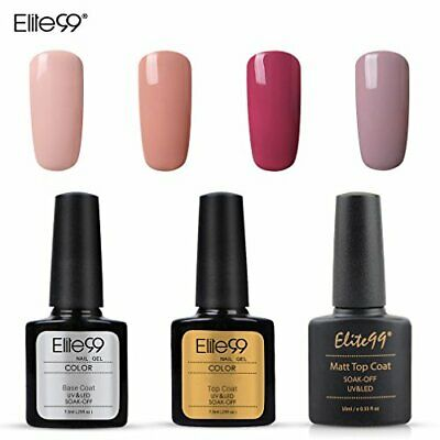 Elite99 Esmalte Semipermanente UV LED 7pcs Kit Uñas de Gel (Nude002)