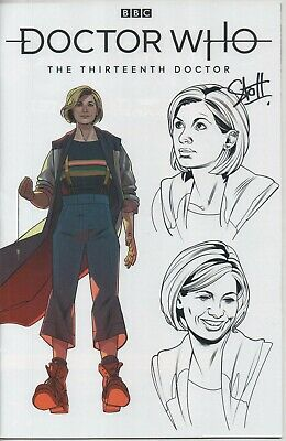 """Dr Who 13th Doctor VARIANT """"Doctor"""" Comic No.2 Jan 2019 Auto by Stott """"Artist"""""""