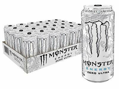 Monster Energy Zero Ultra Sugar Free Energy Drink 16 Ounce Pack of 24