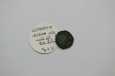 Ghaznavid India Billon Dirhem Ibrahim 1059 B18 #9256