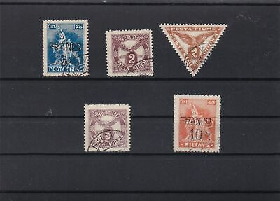fiume 1919 and surcharge stamps  ref r12767