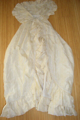 Vintage Babies Cream Christening Gown / Robe / Shawl (Possibly Victorian)