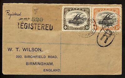 Papua New Guinea 1909 Registered Scarce Cover To Great Britain.    A574
