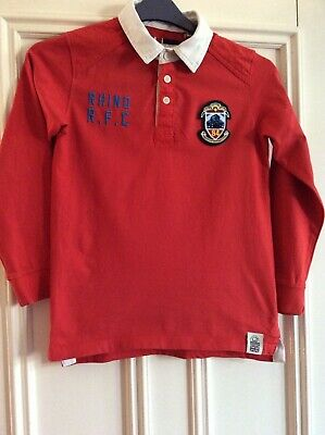 Rhino Red Rugby Shirt Size 10 Years VGC