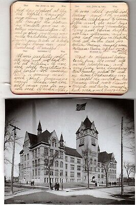 1903 Handwritten Diary Edna Kenyon Detroit MI Summer Trip to Salem NY 17yr Old