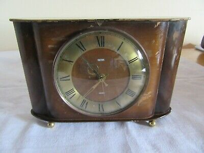 SMITH's  Self Starting SELECTRIC MANTEL CLOCK