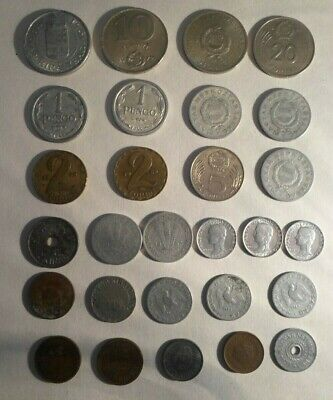 Collection of 28 Hungary coins, 1915-1989, all different