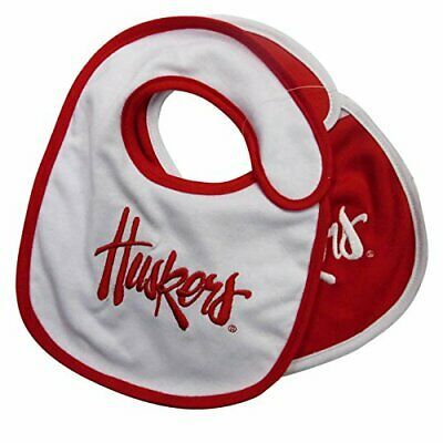 Nebraska Cornhuskers Infant Baby Bibs 2 Pack Red White