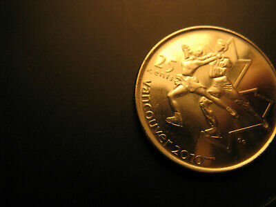 Canada 2008 Vancouver 2010 Olympics Figure Skating 25 Cent Mint Coin.